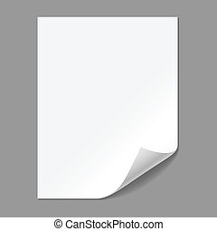 Single Paper Page with Folding Corn - Single piece of paper...