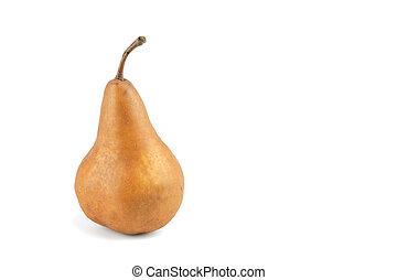 single pear isolated on white background