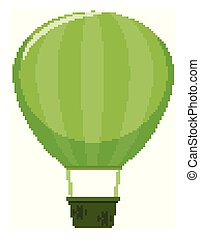 Single picture of balloon in green color