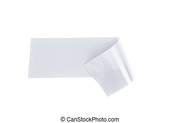 Single piece of insulating tape isolated - Single bent piece...