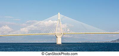 Single pillar of a suspension bridge
