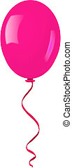 Single pink balloon.