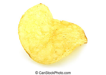 Single potato chip close-up
