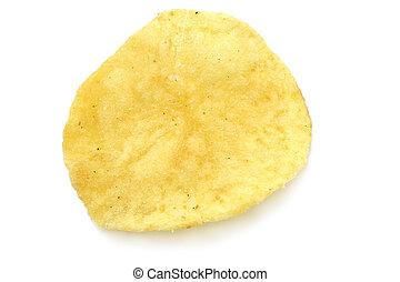 Single potato chip close-up