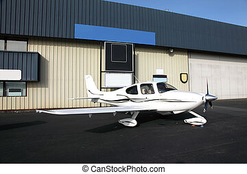 Single propeller aircraft.