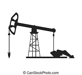 single pumpjack icon