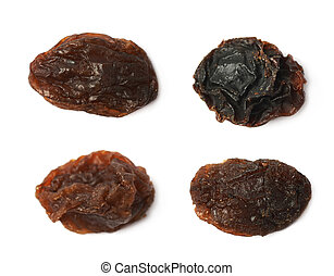 Single raisin isolated