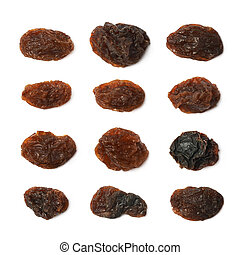 Single raisin isolated