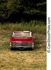 Single Red Classic Car
