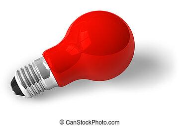 Single red lamp