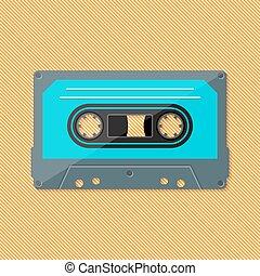Single retro music compact cassette