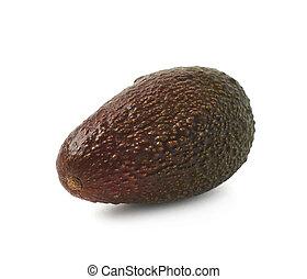 Single ripe avocado isolated