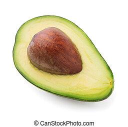 cut avocado isolated