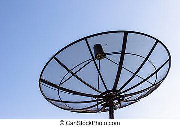 Single satellite dish