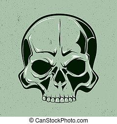 Single skull art.