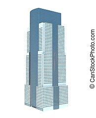 single skyscraper - single business skyscraper isolated on ...