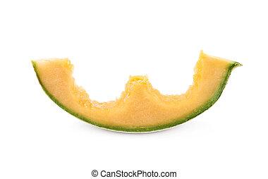 Single slice of a melon