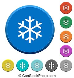 Single snowflake beveled buttons