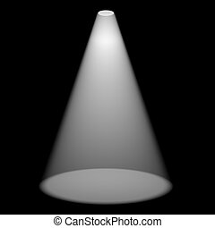 Single Spotlight Shining On Stage For Highlighting A Product...