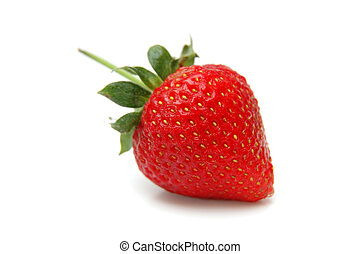 Single Strawberry closeup. Low Depth of Field