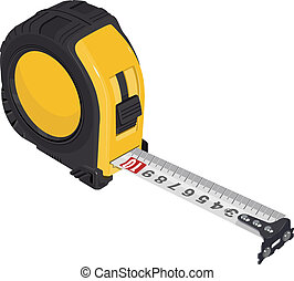 Single Tape measure. Illustration in vector format EPS