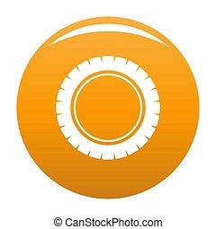 Single tire icon orange