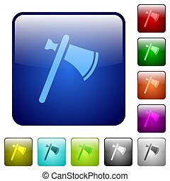 Single tomahawk color square buttons - Single tomahawk icons...