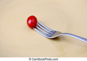 Single Tomato on fork