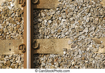 single rail track transport background