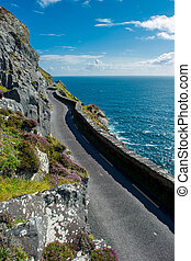 Single Track Coast Road at Slea Head in Ireland