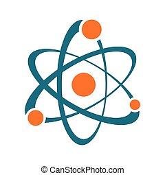 Single vector abstract atom sign icon