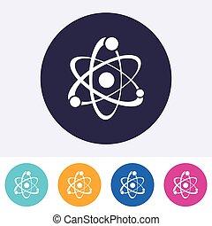Single vector atom sign icon - Single vector round abstract...