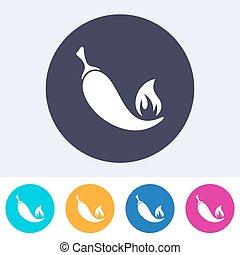 Single vector chilli pepper icon