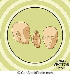Single vector color flat icon. Viral marketing.