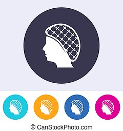 Single vector hairnets must be worn icon - Single vector ...