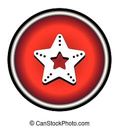 Single vector starfish icon