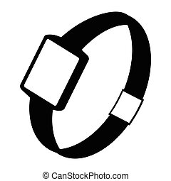 Single watch gadget icon, vector illustration over white