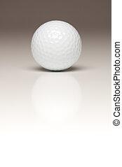 Single White Golf Ball on Gradated Background