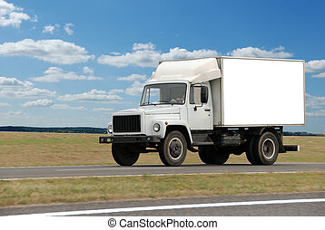 single white middle truck