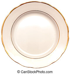 plate isolated on white