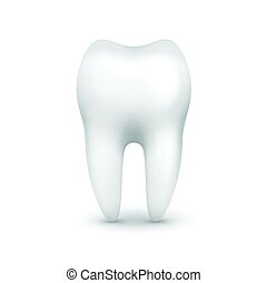 Single white tooth