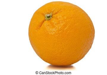 Single whole orange.