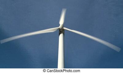 Single wind turbine - Wind turbine medium close up