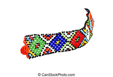 Single Zulu Beaded Bracelet in Bright Colors
