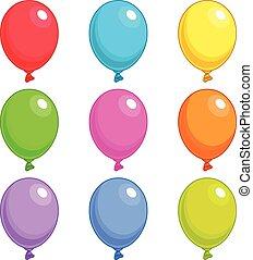 singles, ballons