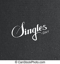 Singles Day Lettering Label. Vector Illustration Of Chineese...