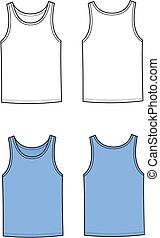 Singlet - Vector illustration of men's singlet. Front and...
