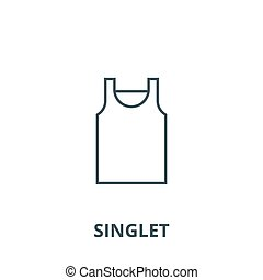 Singlet vector line icon, linear concept, outline sign, symbol