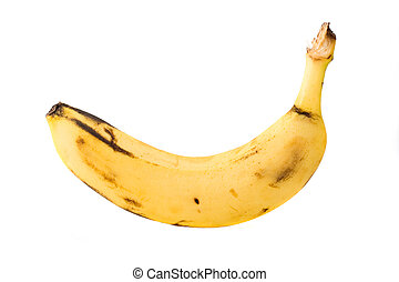 singolo, banana, isolato, su