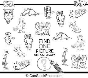 singolo, immagine, coloritura, pagina